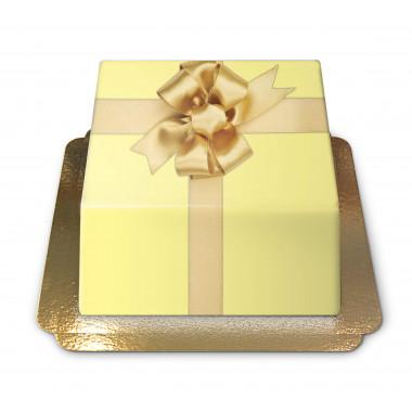 Tort - żółty prezent