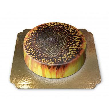 Tort ze słonecznikiem