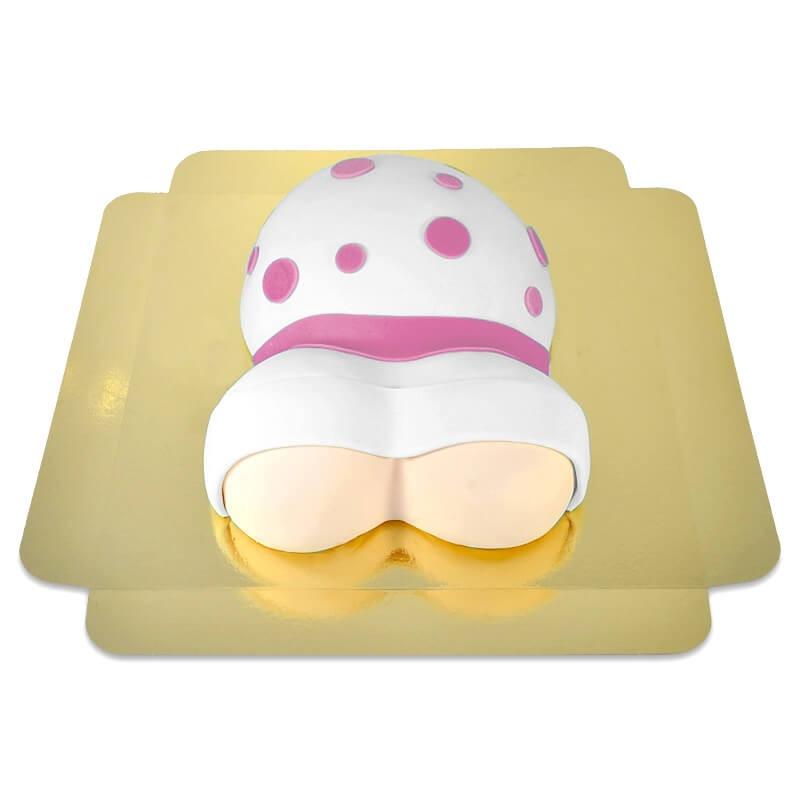 tort brzuszek w różowe kropeczki 2