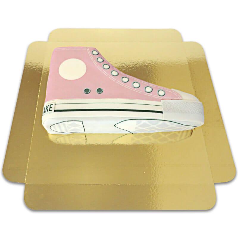 Tort w kształcie tenisówki - różowy