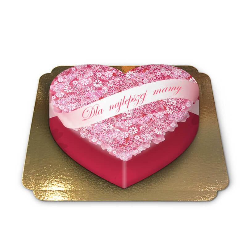 Tort w kształcie serca - Dla najlepszej mamy