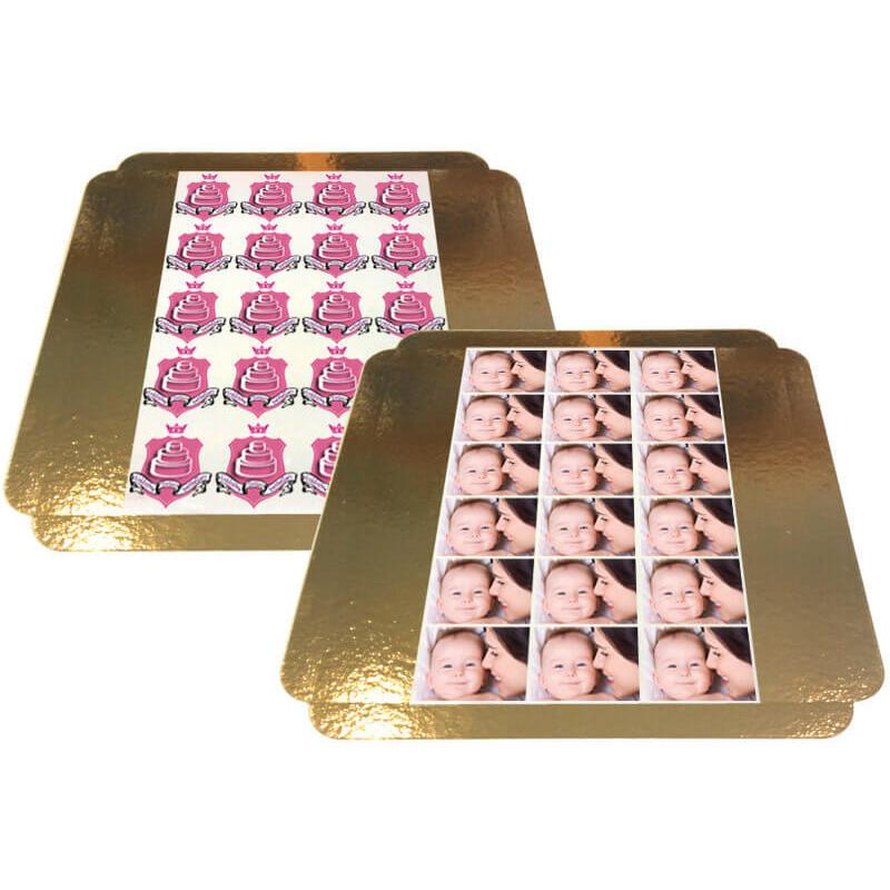 Nakładki na torciki ze zdjęciem - 8 x 8 cm (od 10 sztuk)