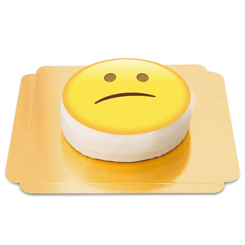 Tort rozczarowana emotikona