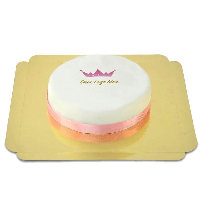 Mały okrągły tort firmowy
