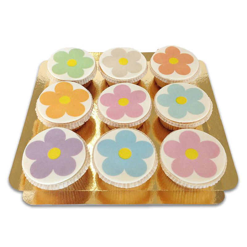 Flower Power Cupcakes, 9 Stück
