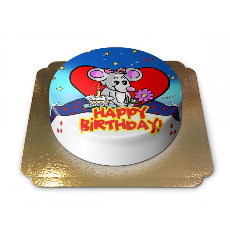 Comicmaus Happy Birthdaytorte
