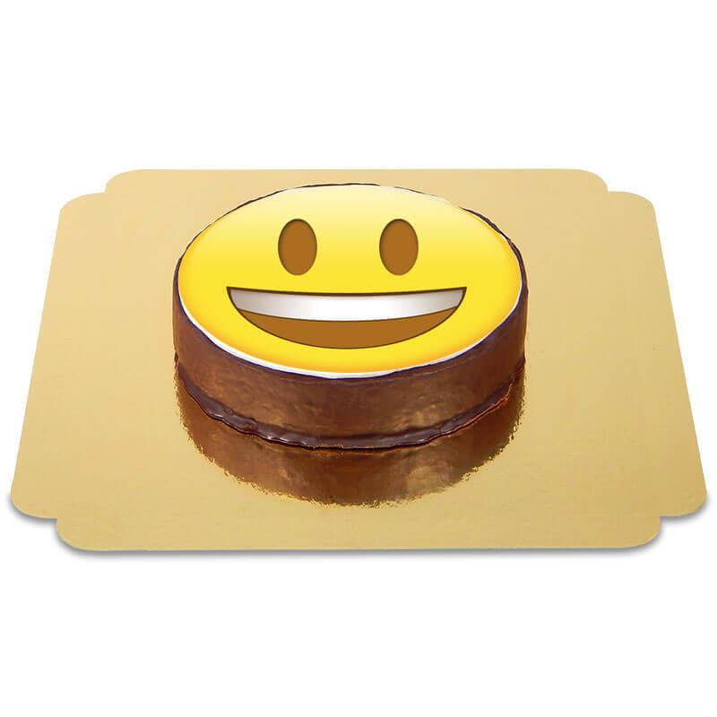 Tort czekoladowy z emotikonką - uśmiech