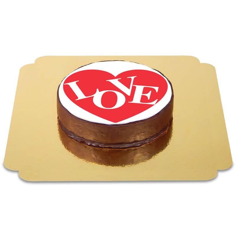 Tort czekoladowy - Love