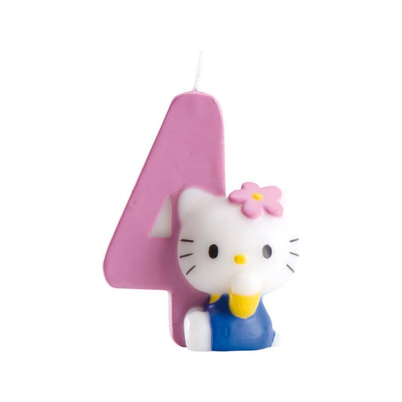 Hello Kitty Tortenkerze, Zahl 4