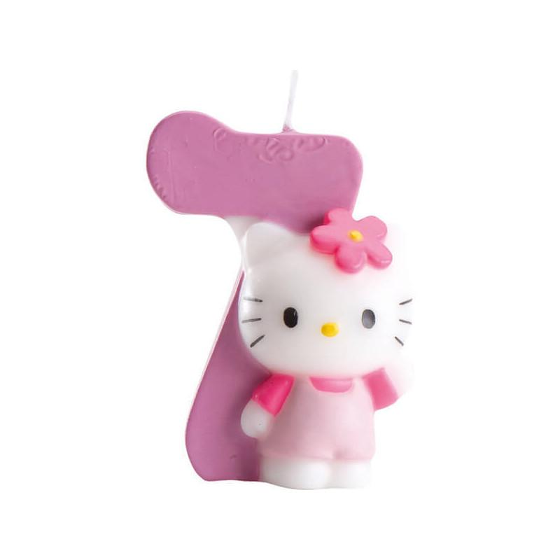 Hello Kitty Tortenkerze, Zahl 7