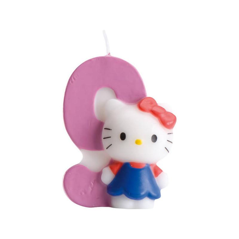 Hello Kitty Tortenkerze, Zahl 9