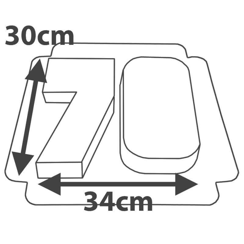 Wymiary - Podwójny tort w kształcie cyfry