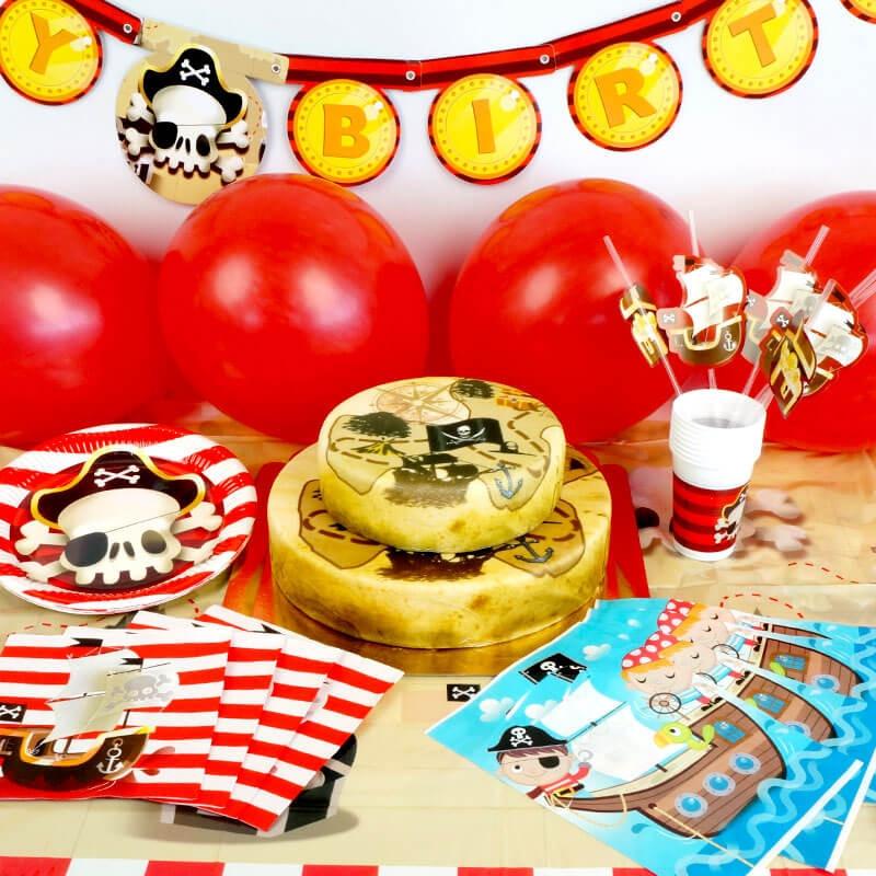 Piraten-Partyset 2-stöckig