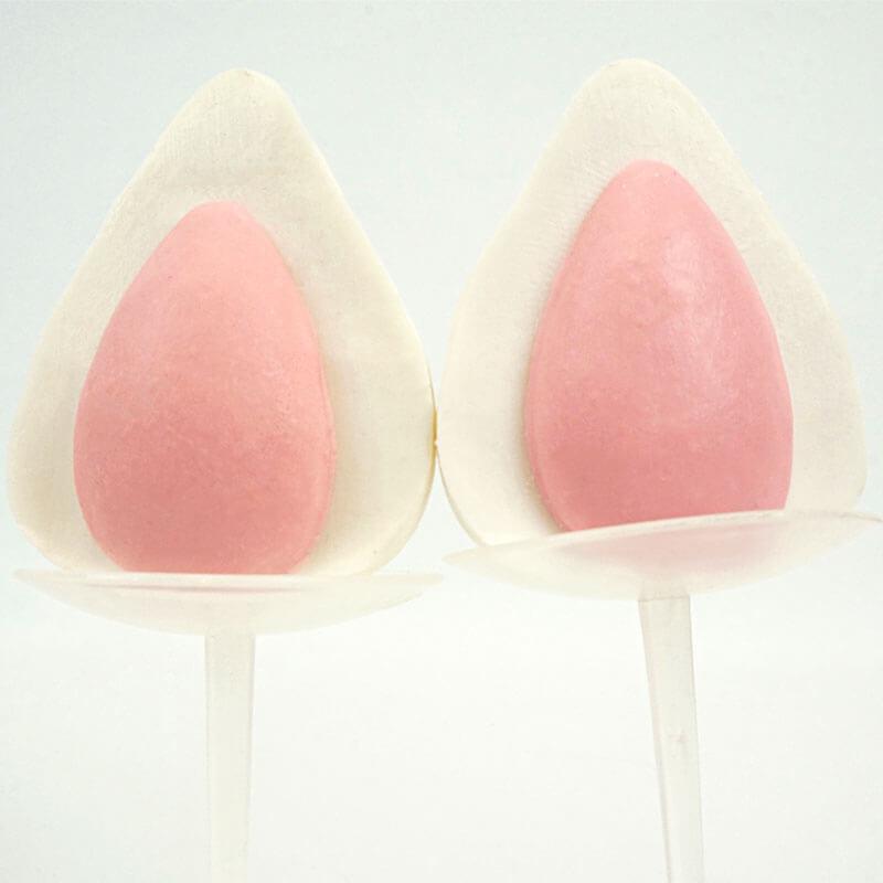 Weiß-rosa Einhorn-Ohren