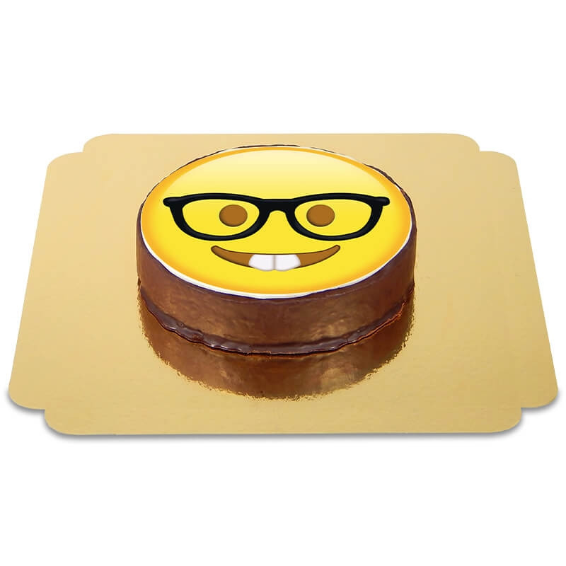 Tort Sachera z emotikoną - Nerd