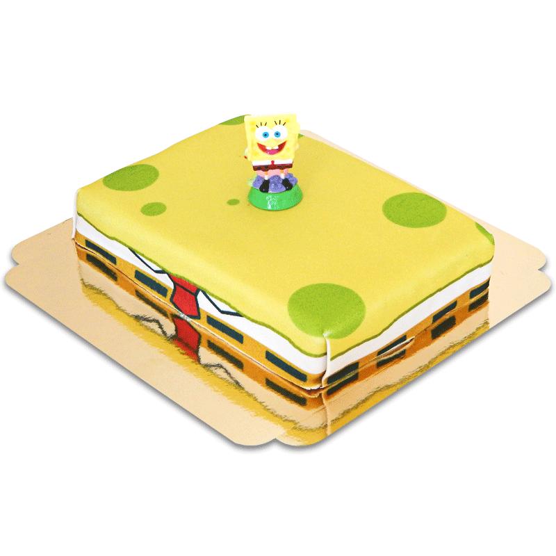 SpongeBob Kanciastoporty na gąbkowym torcie