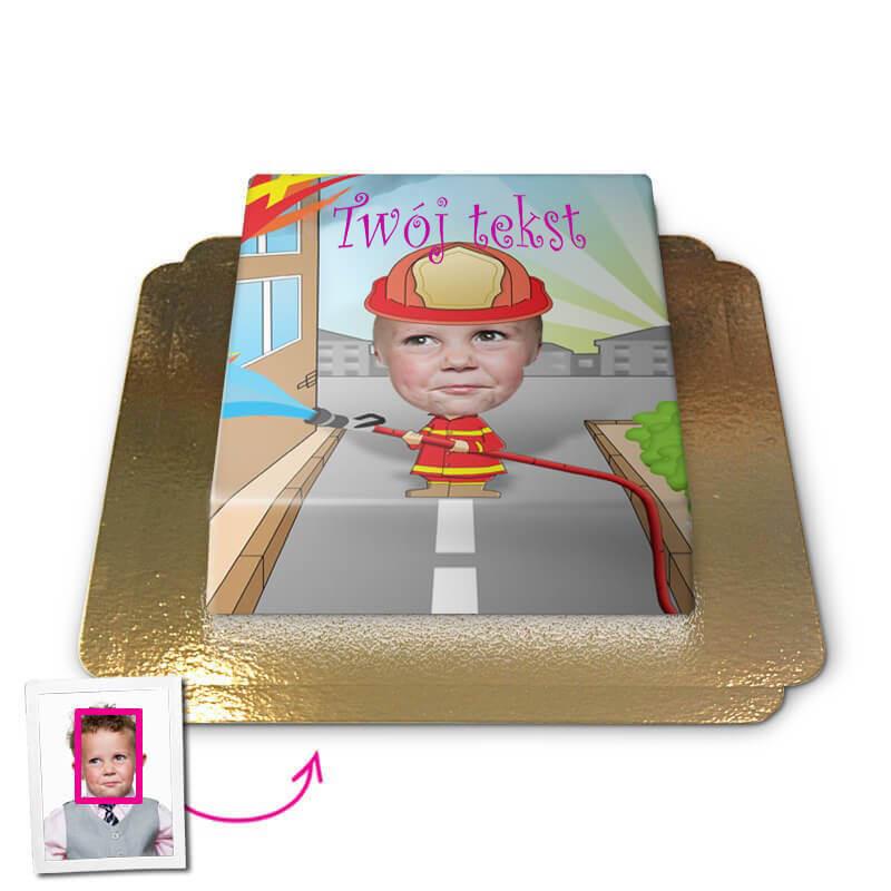 Tort Face-Cake - Strażak