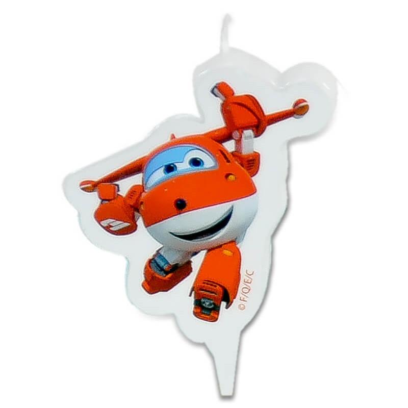 Superwings Jett - świeczka tortowa