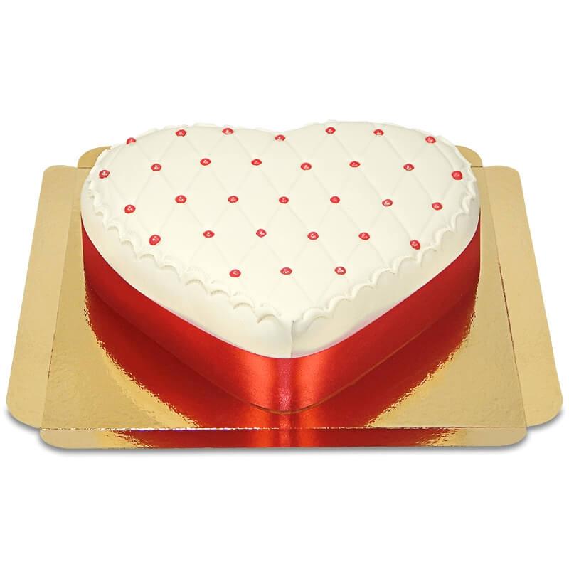 Tort walentynkowy Delux w kształcie serca