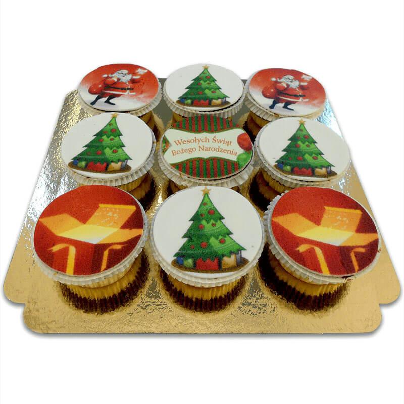 Weihnachts-Cupcakes, 9 Stück PL