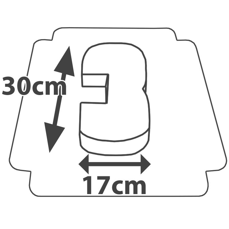 Rozmiary - Tort w kształcie cyfry