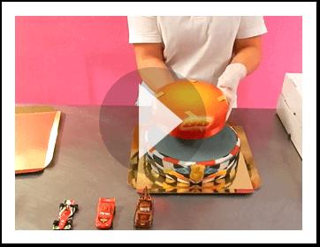 Złożenie dwupiętrowego tortu